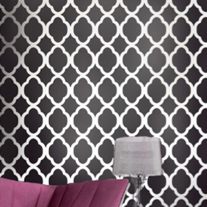 re-usable Moroccan wall stencil