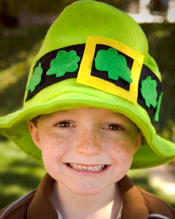 Boy on St. Patrick's Day