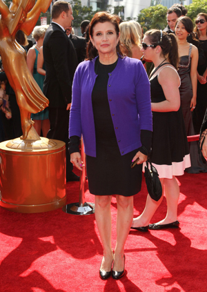 Carrie Fisher at the Emmys
