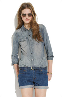 Chambray shirt (Madewell, $80)