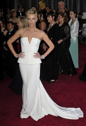 Charlize Theron in Dior at the 2013 Oscars