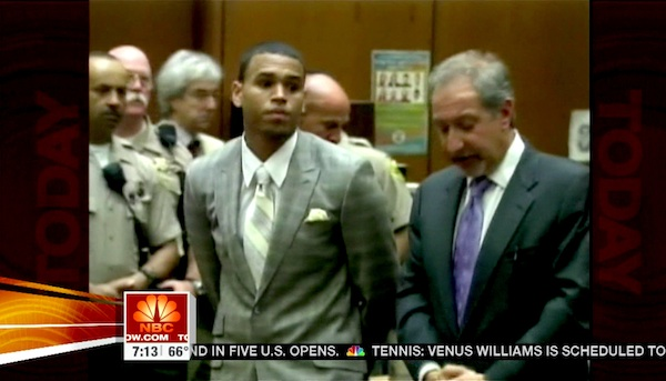 Chris Brown receives probation in felony assault case.