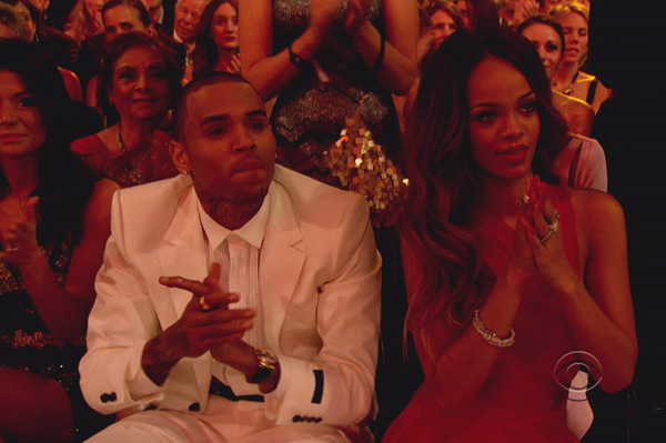 Chris Brown and Rihanna at Grammys