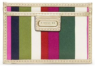 Coach striped ID case