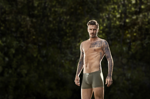 David Beckham in H&M ad