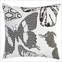 Butterfly print pillow