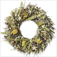 Lemon mint celosia wreath from Williams Sonoma