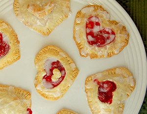 heart pastries