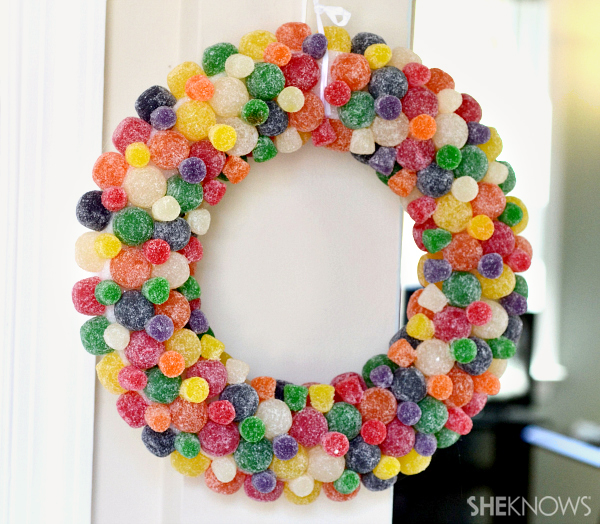 DIY gumdrop wreath for under $20