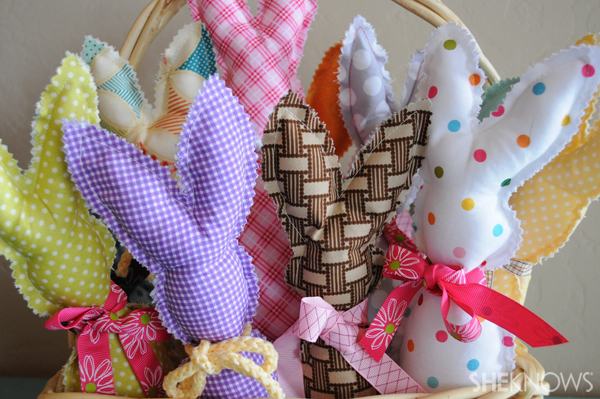 Easter fabric bunnies