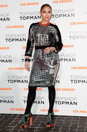 Jennifer Lopez at the TopShop opening in LA