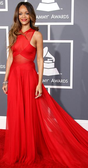 Rihanna at the 2013 Grammys Awards