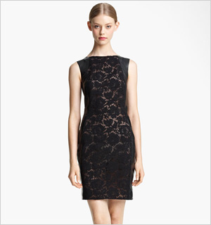 Valentino's Lace and Leather Sheath