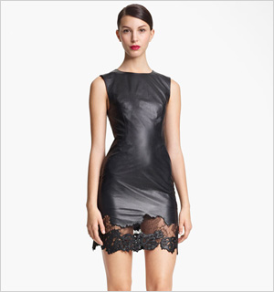 Jason Wu's Lambskin Leather and Lace Sheath dress