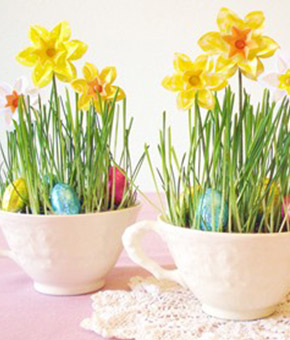 easter teacup placeholders