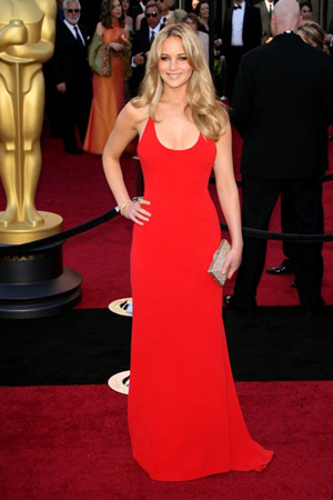 Jennifer Lawrence In Calvin Klein Collection at the 83rd annual Academy Awards
