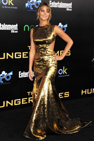 Jennifer Lawrence In Prabal Gurung at The Hunger Games World Premiere