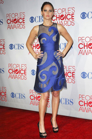 Jennifer Lawrence In Viktor & Rolf at the 2012 People's Choice Awards