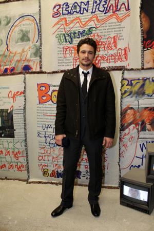 Actor opens an art show in Berlin