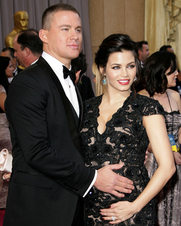 Jenna Dewan-Tatum and Channing Tatum at 2013 Oscars
