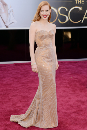 Jessica Chastain at the 2013 Academy Awards
