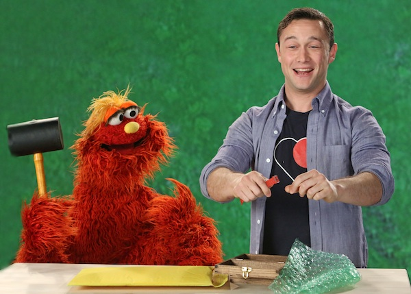 Joseph Gordon-Levitt on Sesame Street.