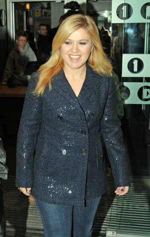 Kelly Clarkson at BBC radio