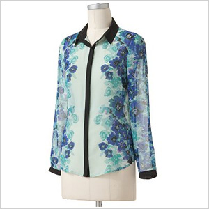 Floral chiffon blouse
