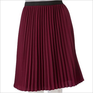 AB Studio Solid Pleated Skirt