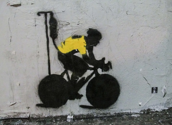 Lance Armstrong Los Angeles street art.
