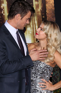 Josh Duhamel and Fergie at the Los Angeles premiere New Year's Eve (2011)