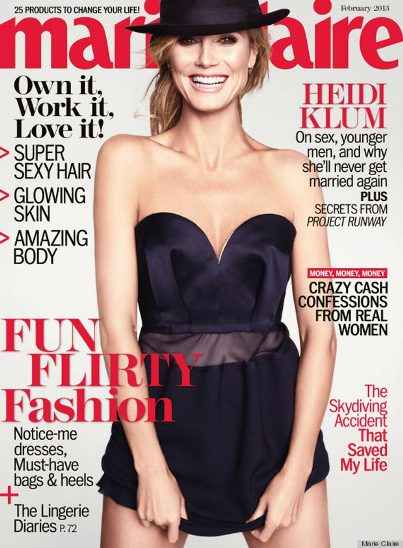Marie Claire Heidi Klum Feb 2013