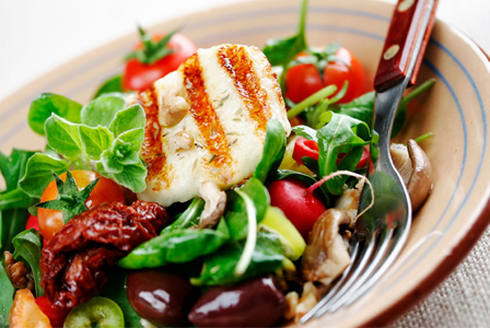 Mediterranean salad with fish