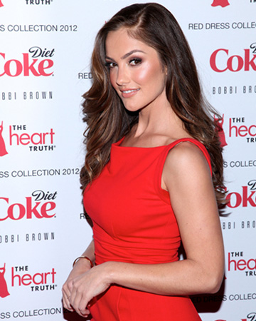 Minka Kelly at the 2012 Red Dress Collection Fashion Show