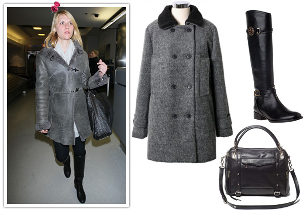 Claire Danes' outerwear look