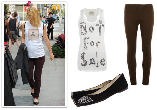 Claire Danes' cute tank look