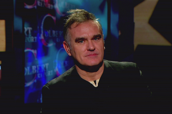 Morrissey on Stephen Colbert show