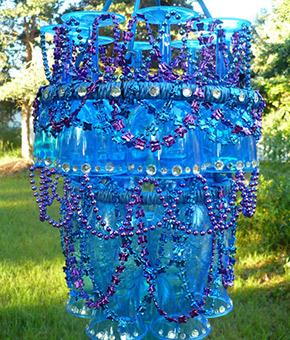 plastic stemware patio chandelier