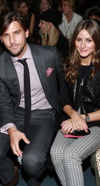 Olivia Palermo with boyfriend at Tibi presentation