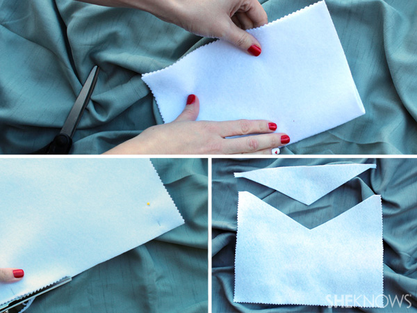 Cut the opening of the envelope