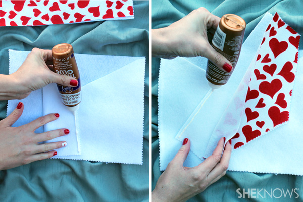 Glue the envelope together