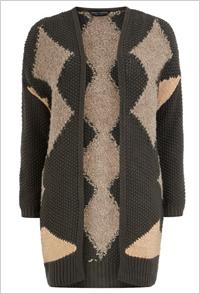 Grey Aztec cardigan (Dorothy Perkins, $60)