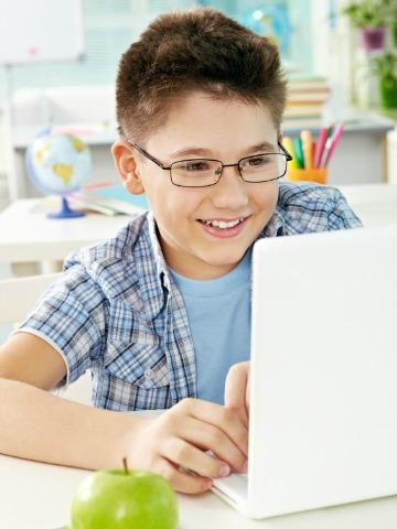 Boy online homeschooling