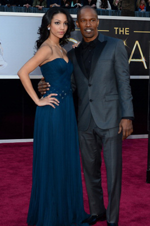 Jamie Foxx at the 2013 Academy Awards