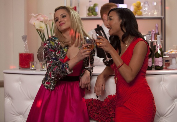 Quinn and Santana