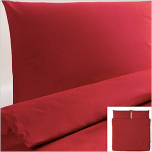 red ikea duvet cover