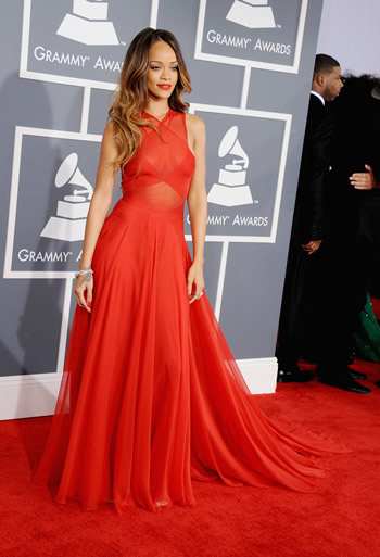 Azzedine Alaia Red Dress Rihanna s custom Azzedine