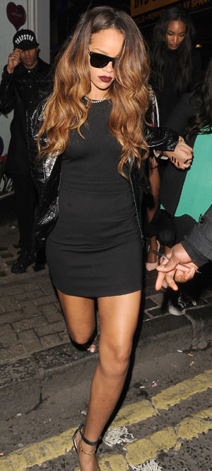 Rihanna leaving London club