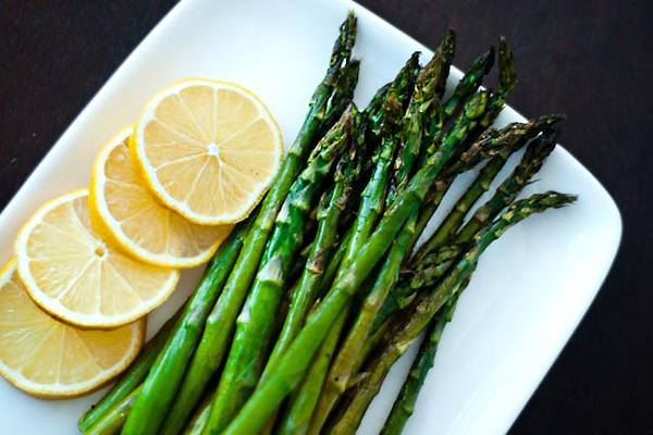Lemon parmesan roasted asparagus recipe