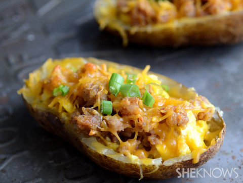 Baked Potatoes With Sausage And Arugula Recipes — Dishmaps